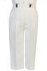 White Suspender Pants & Dress Shirt 5 Pc Easter Spring Outfit (Baby 6 months to Boys Size 7)