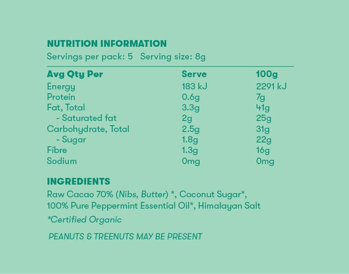 Chow Cacao Nutritional Info