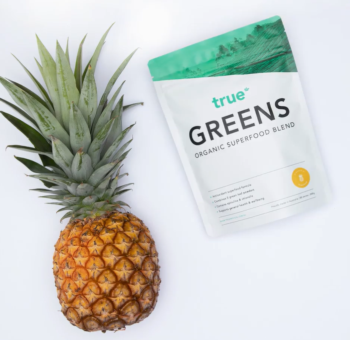 true protein greens pineapple