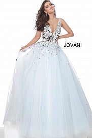 Jovani 00007 Light Blue cut glass prom dress ball gown pageant A Line Formal