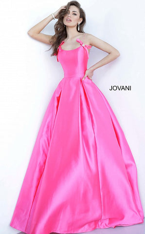Jovani 00199 Pleated Mikado Ballgown Pockets Prom Dress Pageant Gown 2020