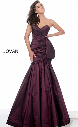 Jovani 00403 Long Fitted Mermaid Evening Dress Strapless Formal Gown Mother Guest