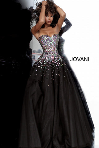 Jovani 00630 embellished Ball Gown 2020 Prom Dress Sweetheart Neckline Tulle Evening