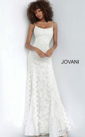 Jovani 00862 Long Lace Fit & Flare Wedding Dress Prom Pageant Gown Evening 2020