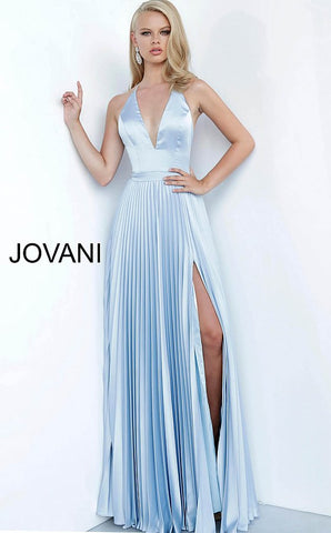 Jovani 03470 pleated backless prom dress evening gown bridesmaids dress