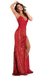 Jovani 06426 is a Long Fitted Stretch Petite Sequin Shimmering Formal Evening Gown. This Stunning Prom Dress Features a Deep V  Plunging Neckline and Detailed floral Appliques. spaghetti straps lead around to an open back. This Backless Pageant Gown throws a glamorous appeal with its lush sweeping sequin train! Sexy thigh Slit in skirt. Available Sizes: 00,0,2,4,6,8,10,12,14,16,18,20,22,24  Available Colors: Black, Cream, Red, Light Blue