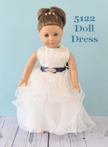 Rosebuds 5123 Doll Dress Matches Rosebuds Flower Girl Dress 5123 Rosebuds Fashions 5123 Doll Dress Matching Doll Flower Girl Dress  Your Flower Girl can have a matching doll dress that matches her flower girl dress!  One size, fits American Girl Dolls or similar dolls in the same size.  Please indicate the color of the sash.   Flower Girl Dress Not Included