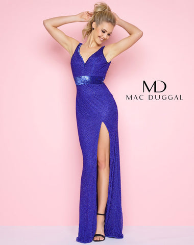 Mac Duggal 1070 Royal Blue Size 12 In Stock