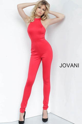 Jovani 1081 Jumpsuit Pageant PantSuit High Neckline Red Sizes 00-24