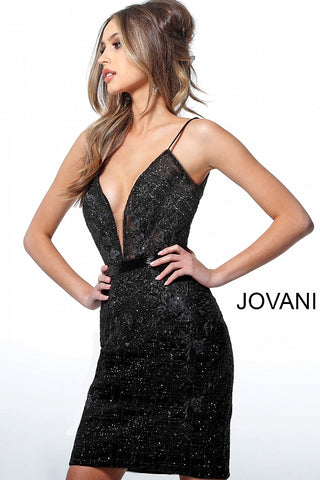 Jovani 1106 Short Fitted Formal Cocktail Evening Gown, Embellished fitted homecoming dress, Plunging neckline, Backless  Plunging Neckline Embellished Cocktail Dress  This stunning Gowns is In Stock! Love it & Need it Now? Call 386-438-5483 to confirm availability for size & color!  Available Colors: Black, Rose Gold  Sizes:  00,2,4,6,8,10,12,14,16,18,20,22,24