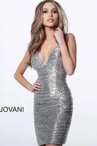 Jovani 1113 short fitted sequin homecoming dress Short Cocktail Gown 2019