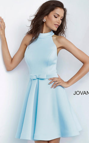 Jovani 1187 High Neck Fit & Flare Short Cocktail Dress Homecoming 2020 Prom Gown