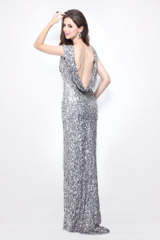 Primavera Couture 1256 Long Sequin High neck Backless Evening Dress Formal
