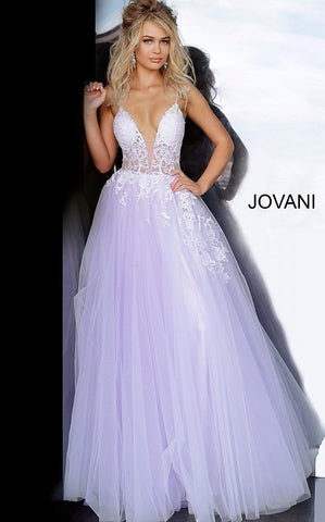 Jovani 1310 off white/blush, off white/light blue, off white/yellow, offwhite/ lilac Sizes 00-24