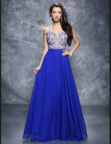 Nina Canacci 1315 Royal size 12 prom dress pageant gown sweetheart