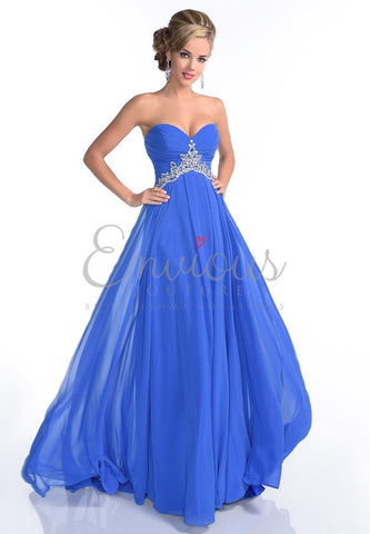 Envious Couture 16043 size 4, 6 Royal Blue prom dress pageant gown