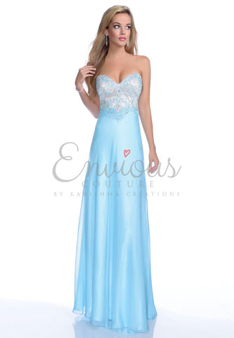 Envious Couture 16104 turquoise prom dress size 8 or 12 in stock