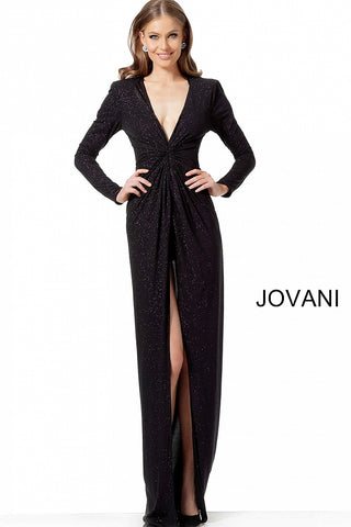 Jovani 1708 Black/Blue, Black/Multi and Black/Pink Sizes 00-24