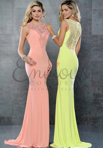 Envious Couture 17223 prom dress stretch evening gown in Blush size 0 prom dress pageant