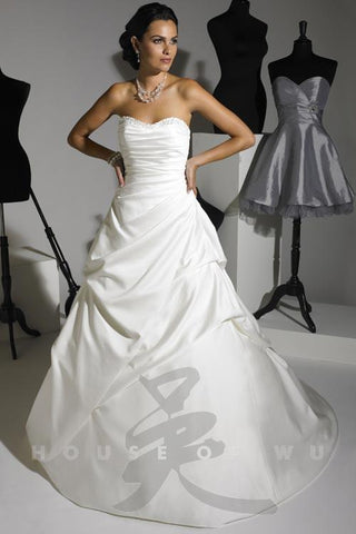 Private Bridal 18797 Size 20 Satin A Line Strapless Wedding Dress Corset Gown