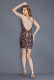 Primavera Couture 1938 beaded sequin short homecoming dress