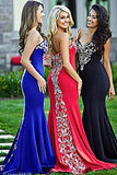 Jovani 20015 Red size 2 mermaid prom dress pageant gown