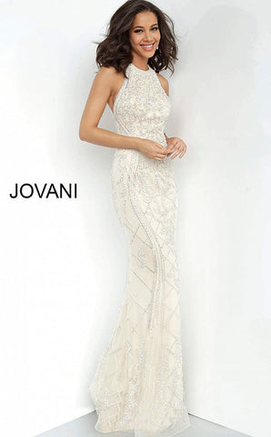 Jovani 2008 open back beaded evening gown prom dress