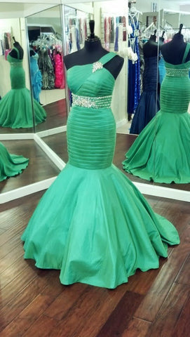 Tiffany Exclusive 46767 Emerald size 10 Prom Dress Pageant Gown Mermaid