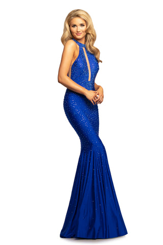 Johnathan Kayne 2037 Size 00 Fitted Stretch Embellished Mermaid Prom Dress Pageant Gown