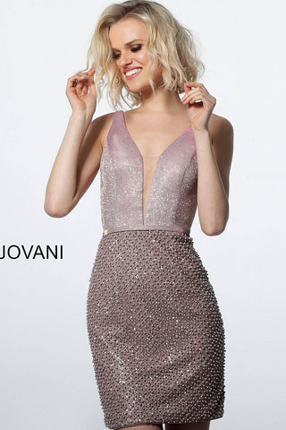 Jovani 2403 plunging neckline fitted cocktail dress