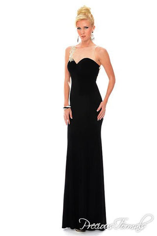 Precious Formals style L39004 Black/Nude size 12 prom dress