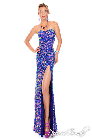 Precious Formals P9100 in midnight/midnight size 12 prom dress