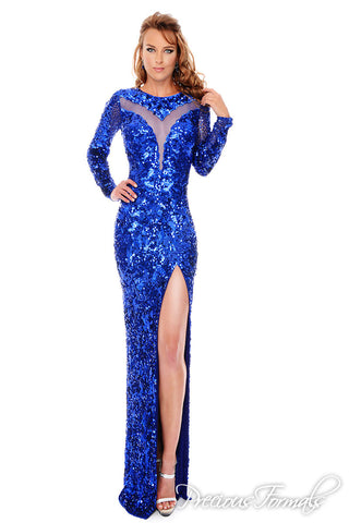 Precious Formals style L9164 in royal blue size 4 pagant dress prom