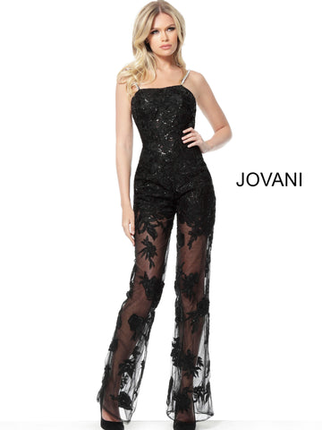 Jovani 59225 embellished lace jumpsuit