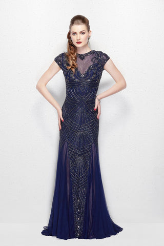 Primavera Couture 3012 midnight size 6 prom dress pageant gown