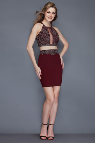 Primavera Couture 3103 two piece short homecoming dress