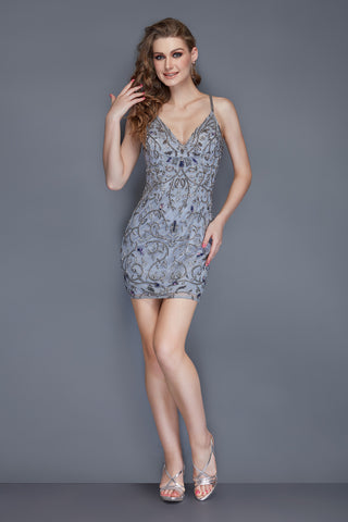 Primavera Couture 3114 beaded short homecoming dress