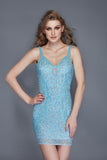 Primavera Couture 3115 short beaded homecoming dress