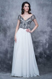 Nina Canacci 3128 Long A Line Cap Sleeve Formal Evening Dress Sheer Lace