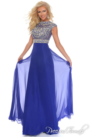 Precious Formals style P70198 size 20 Royal Blue prom dress pageant
