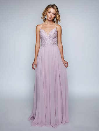 Nina Canacci 3153 Mauve size 4 This is a long flowy prom dress with a lace bodice v neckline. Perfect for wedding guest, bridesmaid, maid of honor or mother of bride or groom dress.  Also makes a nice choice for spring formal dance or other social events.   Color Mauve  Size 4