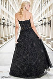 Jovani 14913 sweetheart neckline sheer embellished bodice lace A-line prom dress