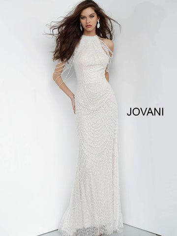 Jovani 3363 Embellished high neckline prom dress