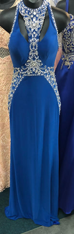 JVN by Jovani style 33755 Royal Blue size 00 prom dress