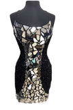 Primavera Couture 3512 Size 2 Short Sequin Cut Glass Fitted Cocktail Dress Backless Corset