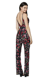 Primavera Couture 3651 is a long fully Embellished Formal Wear Jumpsuit. This V neckline Jump Suit has an open back. Floral Patterns embellish this prom & Pageant Wear Style with Beading & Sequins. Liquid Beading accents the deep v neckline and straps. Available Size: 00,0,2,4,6,8,10,12,14,16,18  Available Colors: Black Multi