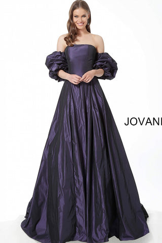 Jovani 3986 Green and Purple Sizes 00-24