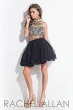Rachel Allan style 3993 Black size 6 homecoming prom dress two piece