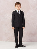 Boy's 5 Piece SLIM FIT Tuxedo Set - Navy Blue 4016