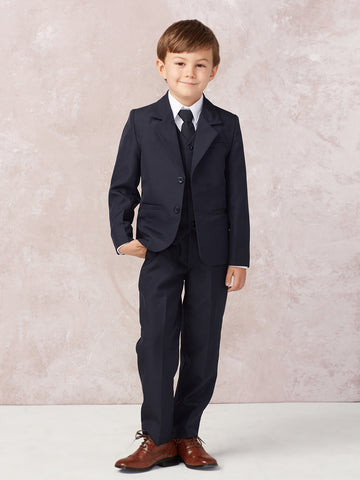 Boy's 5 Piece SLIM FIT Tuxedo Set - Choose Your Color & Size 4020